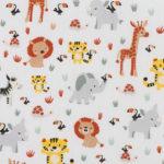 Wit baby jungle dieren