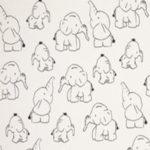 Wit met olifanten