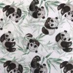 Wit panda beren bamboe bladeren