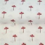 Wit roze palmbomen